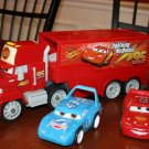 USED Fisher Price Shake 'n Go Pixar's Cars Mack Hauler & Radiator Springs Lightning McQueen & King