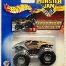 Mattel Hot Wheels 2002 Monster Jam #19 MAXIMUM DESTRUCTION Vehicle - 1:64 Scale Die Cast Truck New