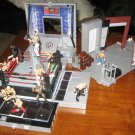 USED WWE Jakks Pacific Wrestling Micro Aggression Playset Match Ring & Locker Room with 12 Figures