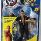 WWF WWE Jakks Stunt Action SuperStars Series 2 THE ROCK Action Figure with Championship Belt New