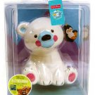 Fisher Price Precious Planet Novelty Baby Bank Polar Bear with Removable Stopper New