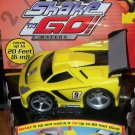 Fisher Price Shake 'n Go Racers! EXOTIC CAR # 9 Yellow Race Vehicle with Sound & Action New