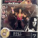 WWE Jakks Pacific Deluxe Build N' Brawl Series 7 Mini 4 Inch Bret The Hitman Hart Action Figure New