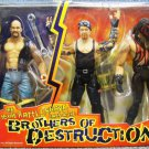 WWF Jakks The Texas Rattle Snake Stone Cold Takes on the Brothers of Destruction Action Figures Set