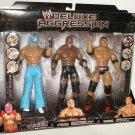 WWE Jakks Exclusive DELUXE Aggression Rey Mysterio, Bobby Lashley & Batista Action Figures New