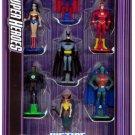 DC Super Heroes Justice League Unlimited Original Members Metal Collection 7 Pack Mini Figures