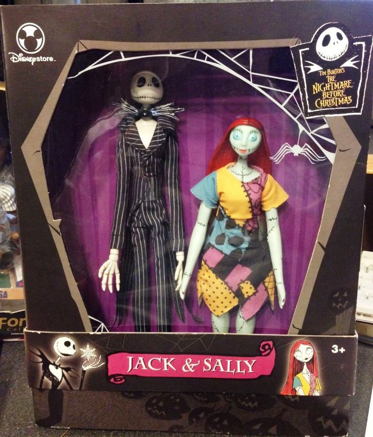 Disney Store Tim Burton's Nightmare Before Christmas Jack & Sally Doll ...