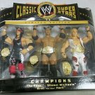 WWE Jakks Pacific Classic The Rock, Shawn Michaels & Bret The Hitman Hart Action Figure 3-Pack NEW