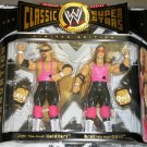 WWE Jakks Pacific Classic Series 1 The Hart Foundation Bret & Jim Neidhart Action Figures New