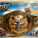 WWF WWE Jakks Pacific Wrestling The Rock Brahma Bull Grapple Belt NEW