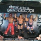 WWE Jakks Exclusive DELUXE Aggression Rey Mysterio, Randy Orton & Kurt Angle Action Figures New