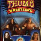 WWF WWE Jakks Pacific Thumb Wrestlers Undertaker & Shawn Michaels Figures New
