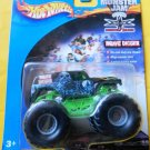 Mattel Hot Wheels 2000 Monster Jam GRAVE DIGGER Green & Black Vehicle Scale 1:64 Die Cast Truck New
