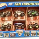 Mattel Hot Wheels 2002 Monster Jam Metal Collection Fan Favorites Includes 6 Trucks Scale 1:64 New