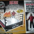 WWE Jakks Pacific Hardcore Barbed Wire Ring Playset with Exclusive Mick Foley Action Figure New