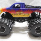 USED Mattel Hot Wheels Monster Jam 1:24 Scale Monster Truck PURE ADRENALINE Grey Rims