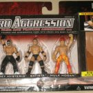 WWE Jakks Micro Aggression Series 2, Rey Mysterio, Batista & Hulk Hogan Action Figures New