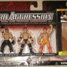 WWE Jakks Micro Aggression Series 2, Rey Mysterio, Batista & Hulk Hogan Action Figures New