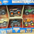 Mattel Hot Wheels 2004 Monster Jam Metal Collection Includes 6 Trucks Scale 1:64 New