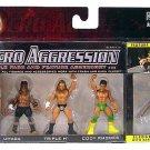 WWE Jakks Pacific Micro Aggression Series 11 Umaga, Triple H & Cody Rhodes Action Figures New