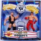 WWE Jakks Pacific Wrestlemania Recall XX Shawn Michaels vs Stone Cold Steve Austin Action Figures