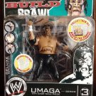 WWE Jakks Pacific Deluxe Build N Brawl Series 3 Mini 4 Inch Action Figure Umaga With Cage Wall New