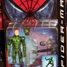 Toy Biz Spider Man Movie Unmasked Green Goblin Super Poseable Action Figure with Glider & Base New