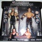 WWE Jakks Deluxe Aggression Brothers of Destruction Undertaker & Kane Action Figures New