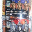 Mega Bloks Dragons War Chest Set 9861 & 9862: Warfang Gold Warriors & Valtheran Silver Warriors New