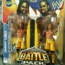 WWE Mattel Battle Pack Series 28 The Uso's Jimmy & Jey USO Action Figure Includes Surfboard New