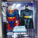"DC Super Heroes Justice League Unlimited 10"" inch Giants of Justice Superman & Batman Figures"
