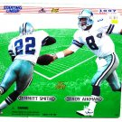 "Kenner 1997 NFL Starting Lineup 12"" inch - Dallas Cowboys - Emmitt Smith T& roy Aikman - figure NEW"