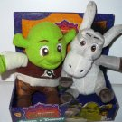 "MGA Dreamworks Shrek the Third Movie Shrek & Donkey 5"" Plush Stuffed Toys New"