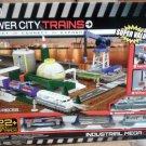 Jakks Pacific Super Value Power City Trains Industrial MegaCity 63 Pcs New