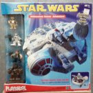 Hasbro Star Wars Galactic Heroes Playskool Millenium Falcon Adventure Set with 4 Mini Figures NEW
