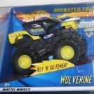 Mattel Hot Wheels Monster Jam Yellow, Black & Blue WOLVERINE Rev N Go Power Scale 1:43 New