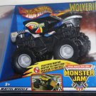 Mattel Hot Wheels Monster Jam Black & Grey WOLVERINE Friction Motor Rev Scale 1:43 New