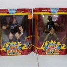 WWF WWE Jakks Pacific Superstars Ripped & Ruthless Series 1 In Your House Complete Set  New