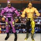 USED WWE Jakks Classic Deluxe Rey Mysterio & Eddie Guerrero - Ringside Collectibles 2 pack Figures