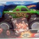 Mattel Hot Wheels Monster Jam 1:24 Scale Monster Truck 2006 WWE THE ROCK with White Rims New