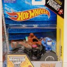 Hot Wheels Monster Jam 1:64 Scale Die Cast Truck - Off-Road #7 SCOOBY-DOO with Mini Blue Figure NEW