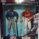 "Kenner 1999 Baseball MLB Starting Lineup 12"" inch - Sammy Sosa & Mark McGwire figures NEW"
