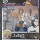 WWE Jakks Deluxe Build N Brawl Series 8 Roddy Piper Action Figure with Mic & Chair New