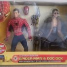 "Toy Biz Marvel Spider-Man 2 Movie Super Poseable SpiderMan & Doc Ock 12"" Collector Set Figures New"