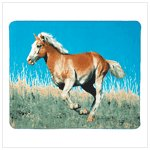 Wild Mustang Fleece Blanket #39346