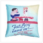 Sublimated Art Pillow-Fat Boy Drive-In #36786