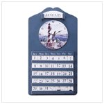 Lighthouse Wall Clock and Calender #33773