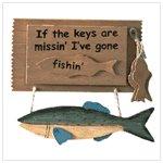 "Cute ""Gone Fishing"" Key Holder #31180"