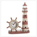 Wood Lighthouse Clock #36202