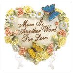 Heart Shaped Butterfly Plaque for Mom #37782